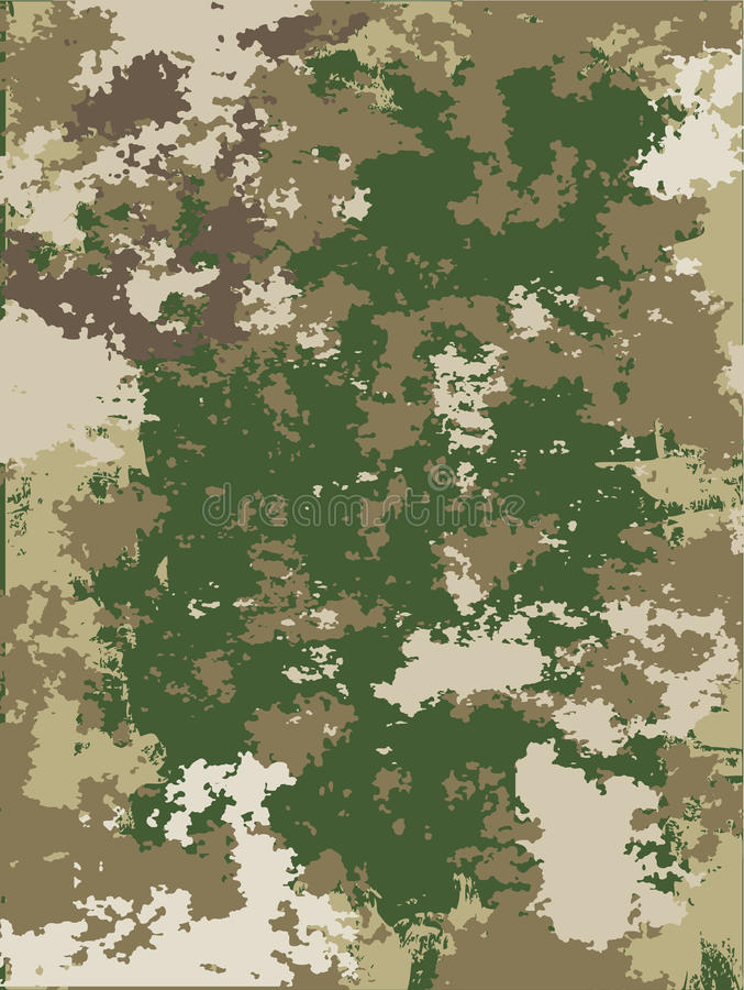 Camouflage vector texture stock illustration