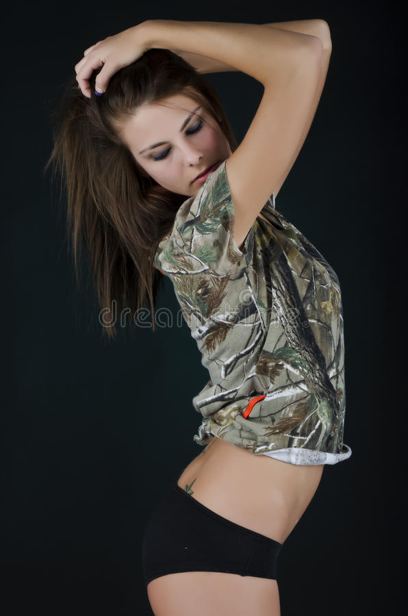 Camouflage woman