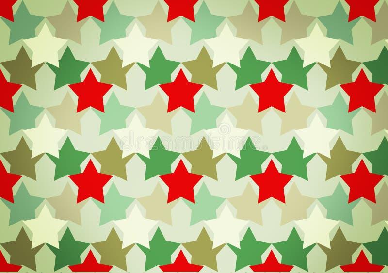Camouflagepatroon met rode sterren stock afbeelding