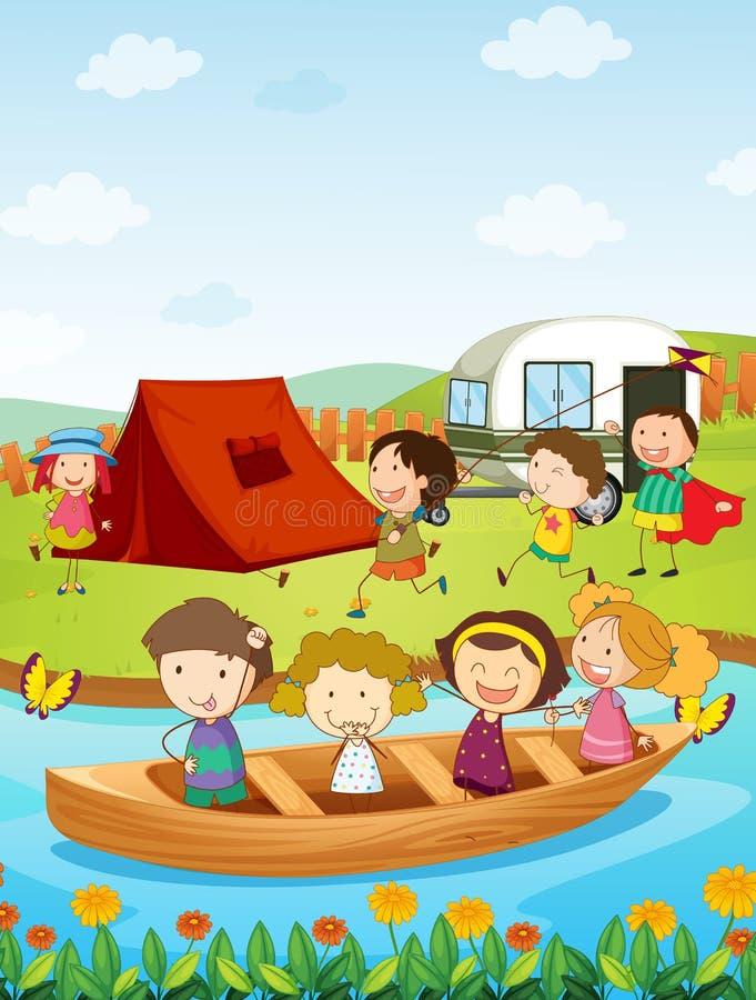 Camp illustration de vecteur