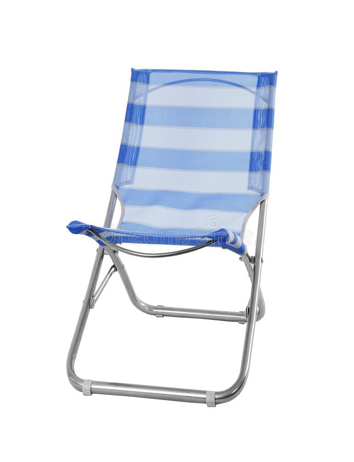 Camp chair isolated on white stock photo