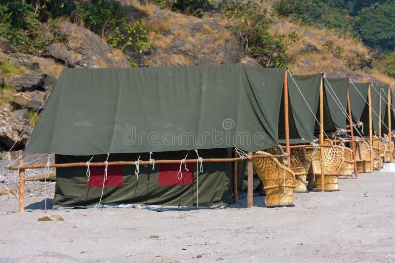 Camp chez le Gange photo libre de droits