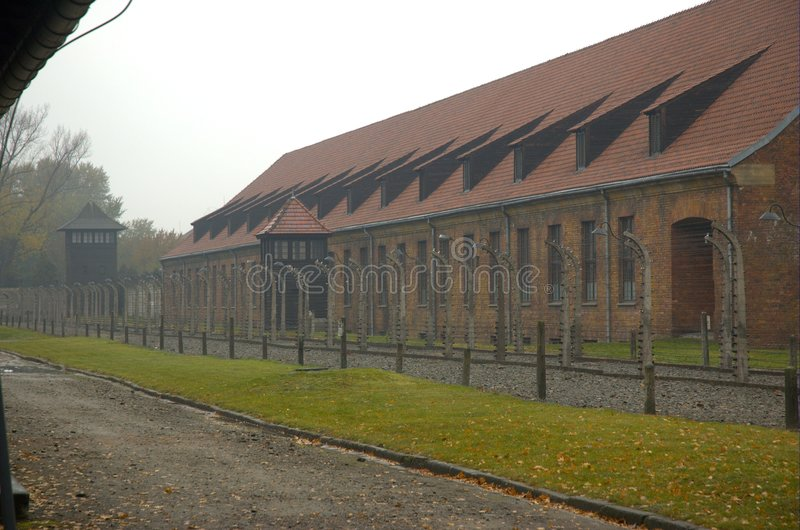 The camp of concentration. Of Auschwitz royalty free stock photo