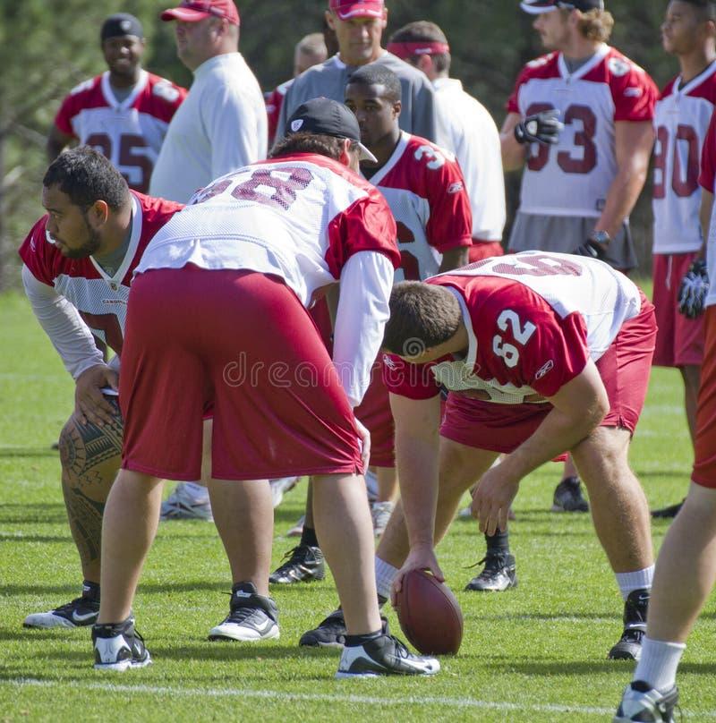 Camp d'entraînement de cardinaux de NFL Arizona image libre de droits