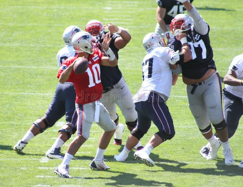 Camp d'entraînement 2016 de New England Patriots images stock