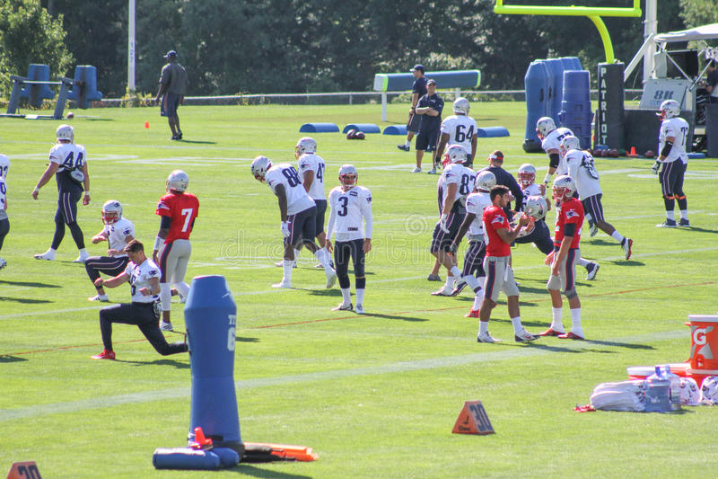 Camp d'entraînement 2016 de New England Patriots photographie stock