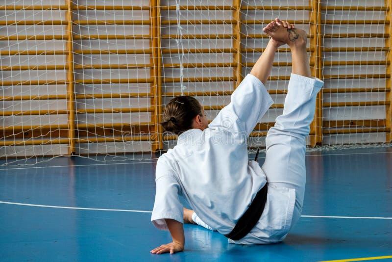Camp d'entraînement international de karaté de kyokushinkai d'été en Hongrie images stock