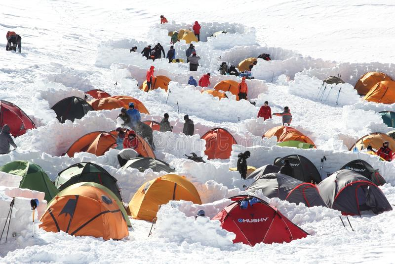 Camp d'Uludag Brousse photos libres de droits