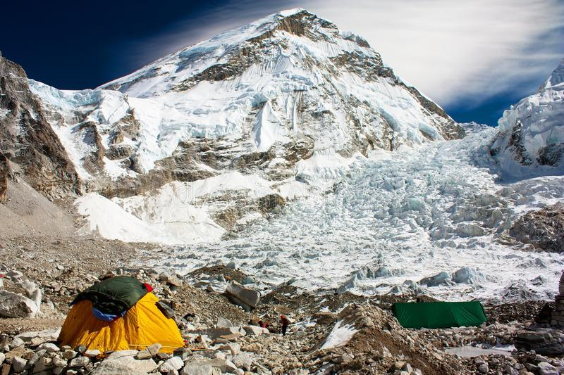 Camp de base d'Everest image libre de droits