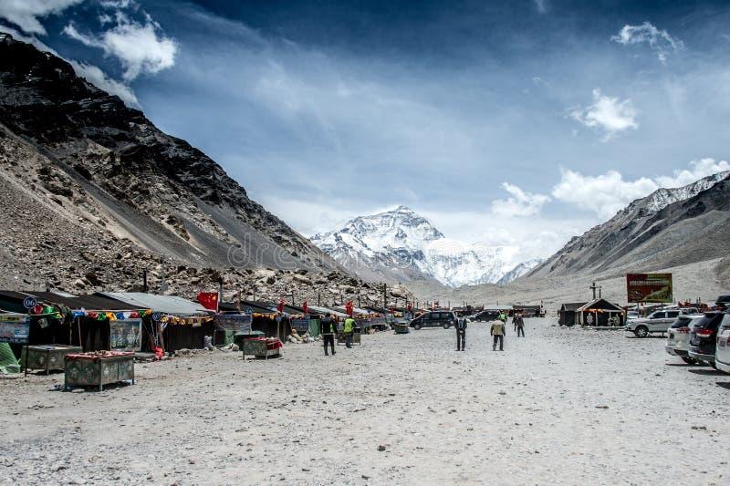 Camp de base d'Everest Visage du nord photo libre de droits