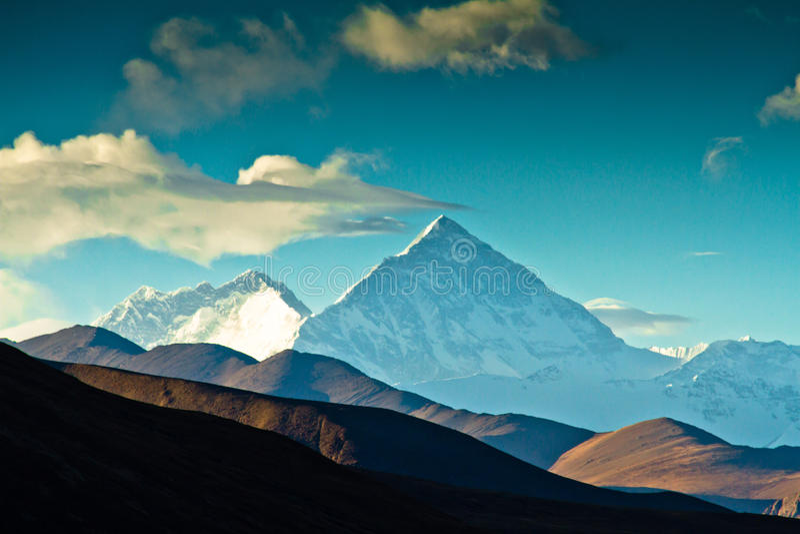 Camp de base Thibet du mont Everest photos libres de droits