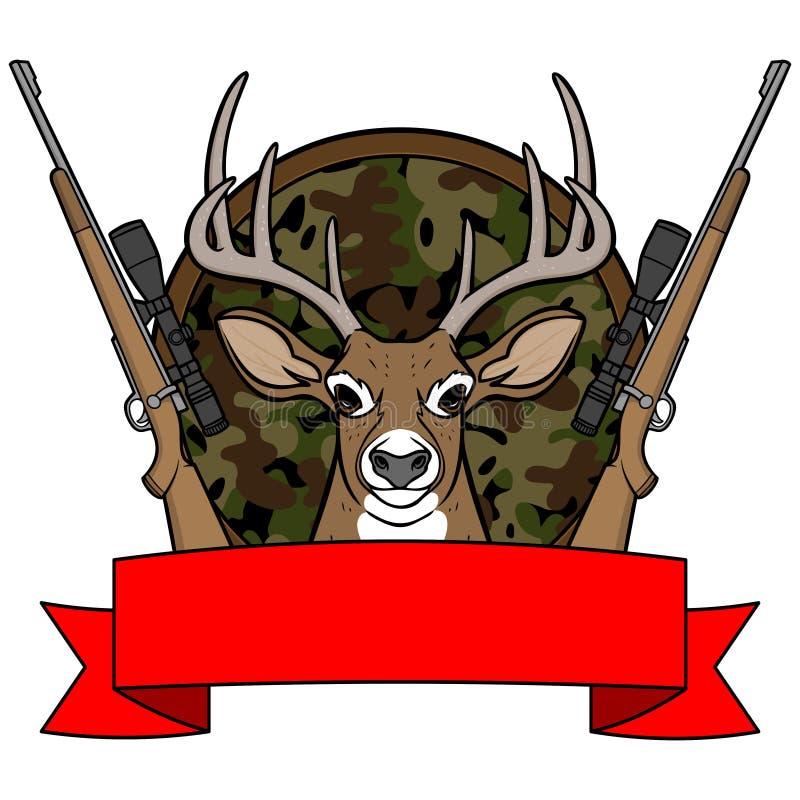 Camp de chasse de cerfs communs illustration stock