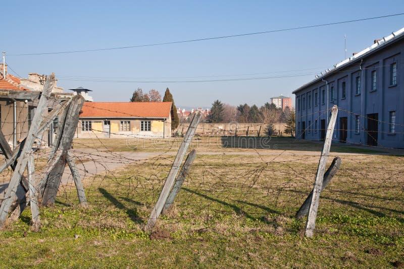 Camp de concentration établi en 1941 images stock