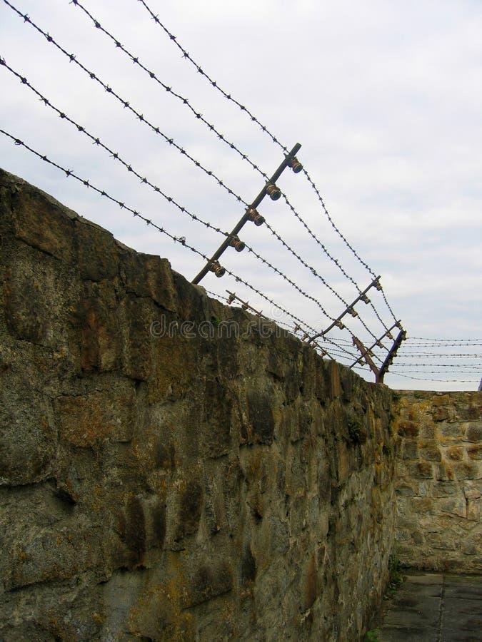 Camp de concentration - barbelé photo stock
