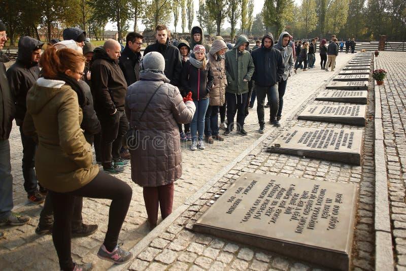 Camp de concentration commémoratif Auschwitz Birkenau photographie stock libre de droits