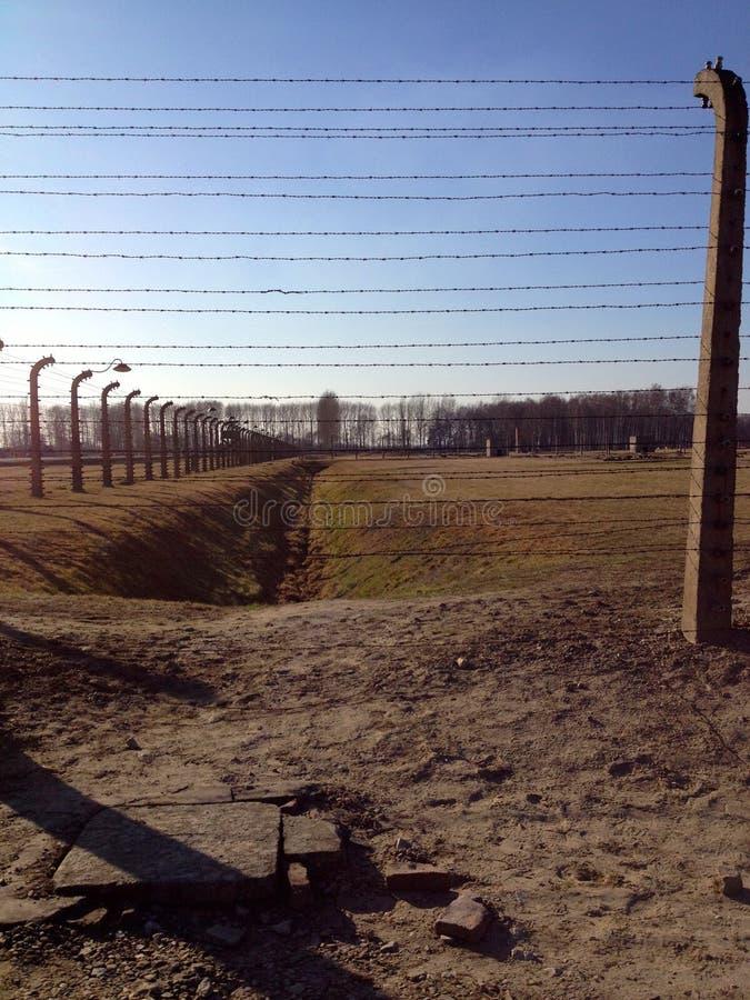 Camp de concentration d'Auschwitz images libres de droits