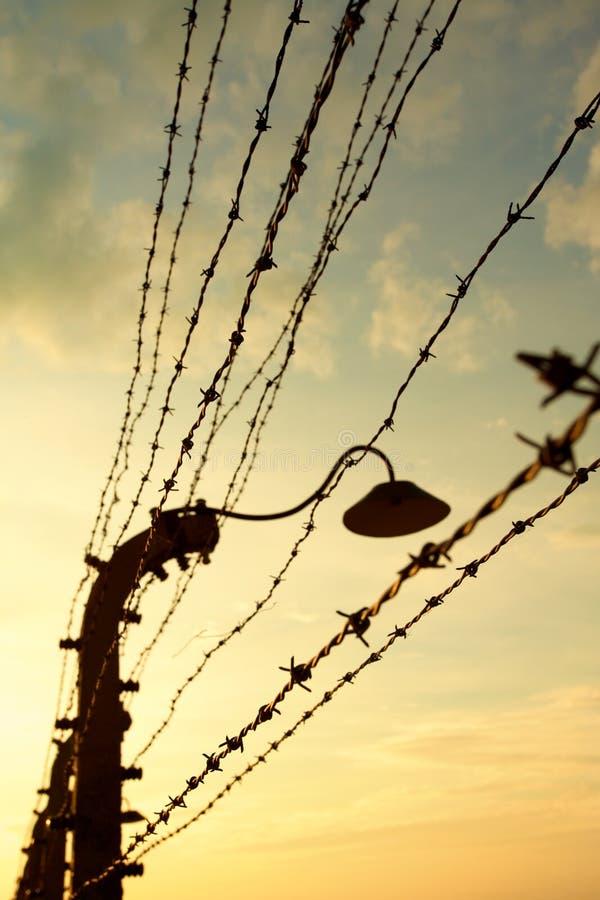 Camp de concentration d'Auschwitz-Birkenau images stock