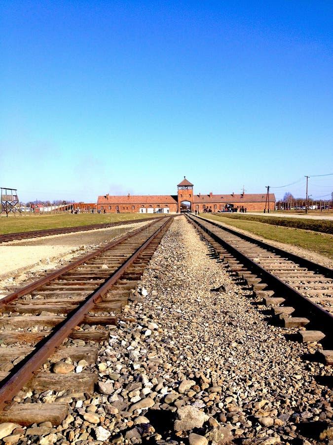 Camp de concentration d'Auschwitz-Birkenau photo libre de droits