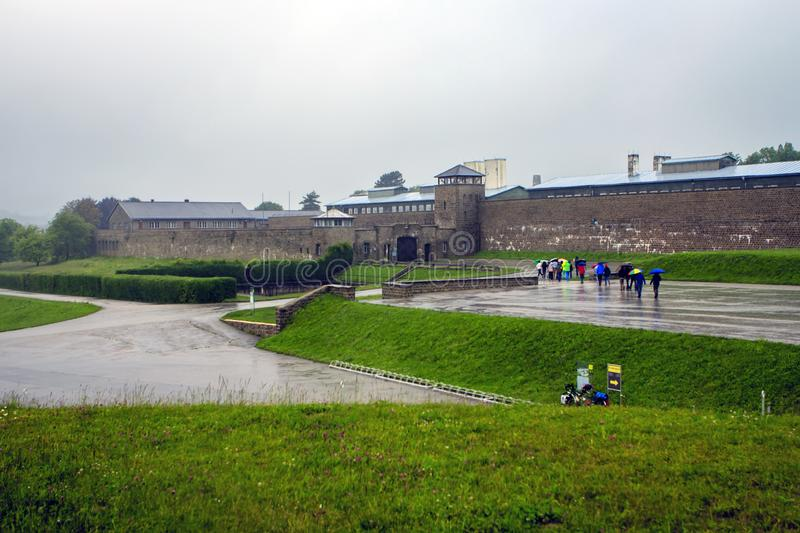 Camp de concentration de Mauthausen, Autriche image stock