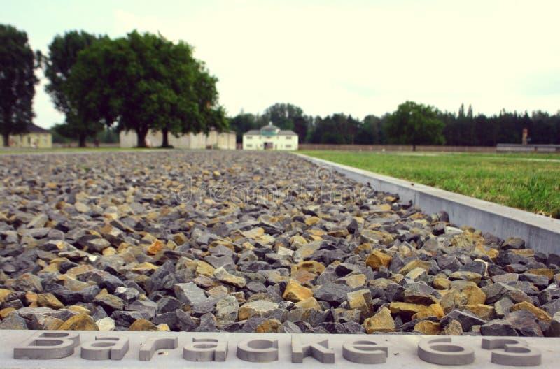 Camp de concentration Sachsenhausen images libres de droits