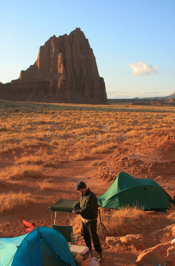Camp de désert image libre de droits