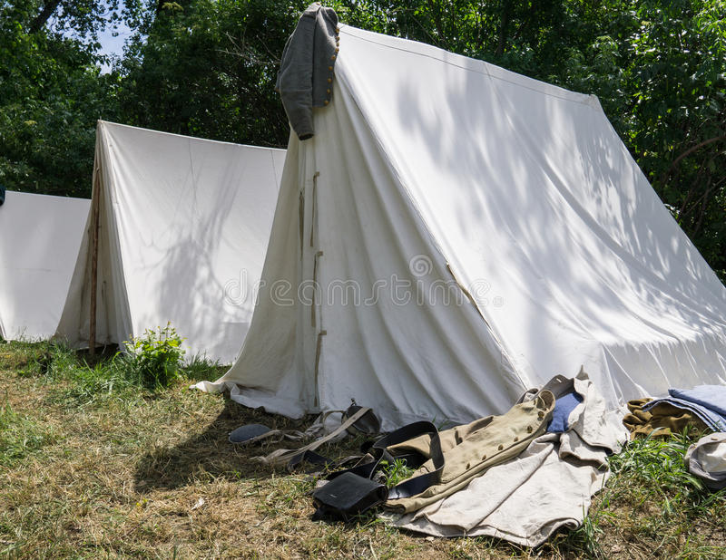 Camp de guerre civile photographie stock libre de droits