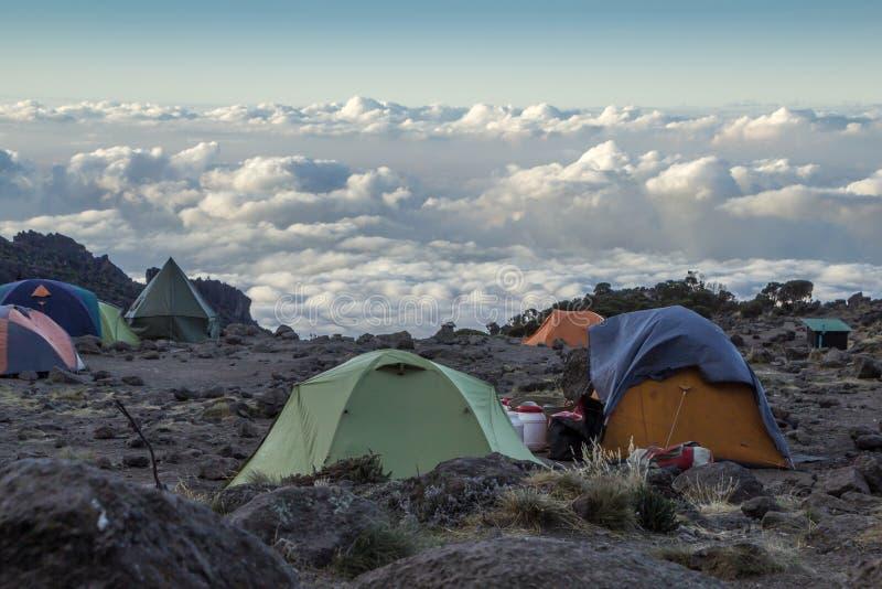 Camp de Kilimanjaro Barranco photos libres de droits