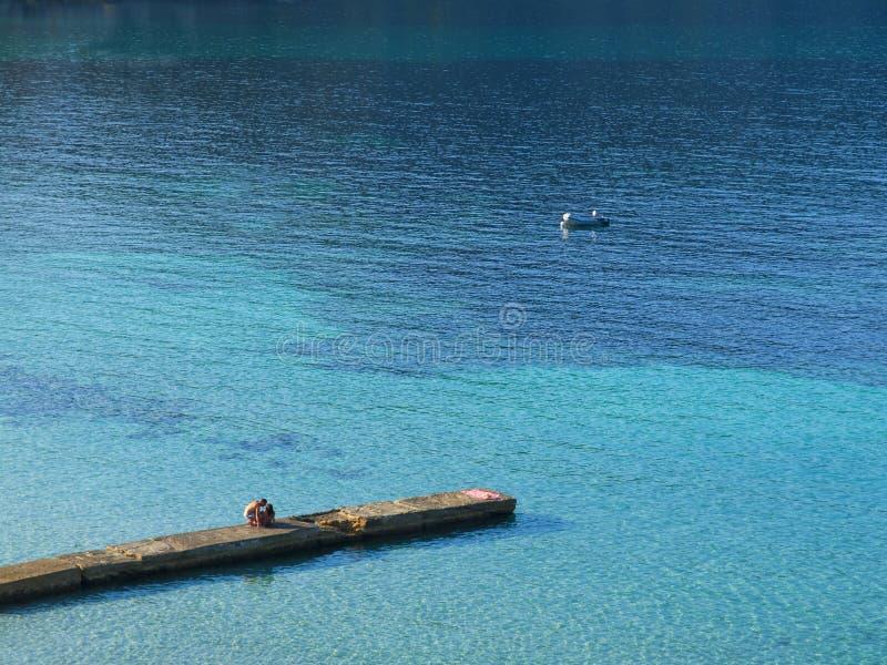 Camp de Mar Beach, Mallorca royalty free stock image