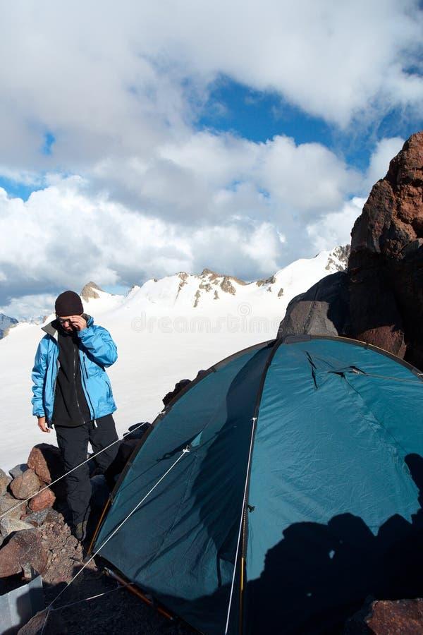Camp de montagne photos libres de droits