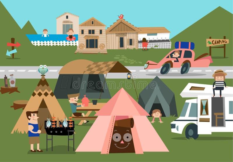 Camp A de montagne
