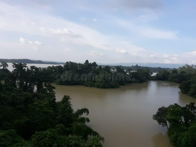Camp de navi de Kaptai une belle nature images libres de droits