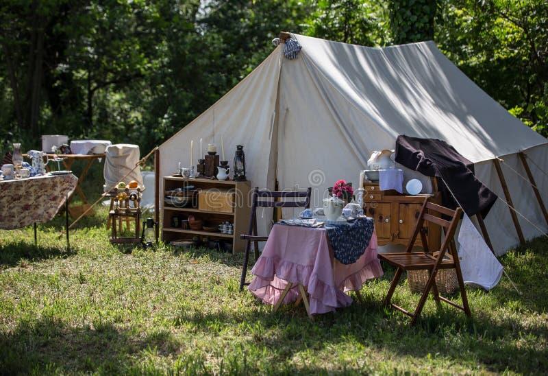 Camp de période de guerre civile image stock