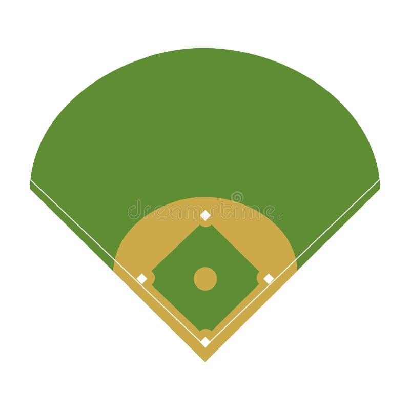 Camp diamond baseball sport royalty free illustration