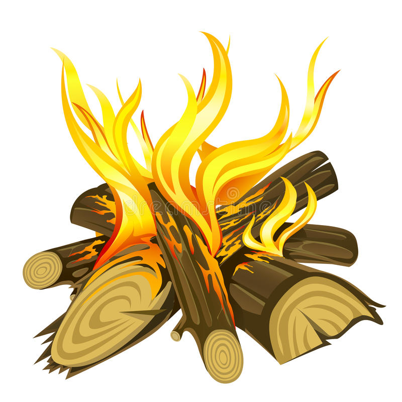 Download Camp fire stock vector. Image of fire, cartoon, energy - 29643576