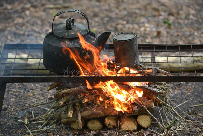camp fire royalty free stock photos