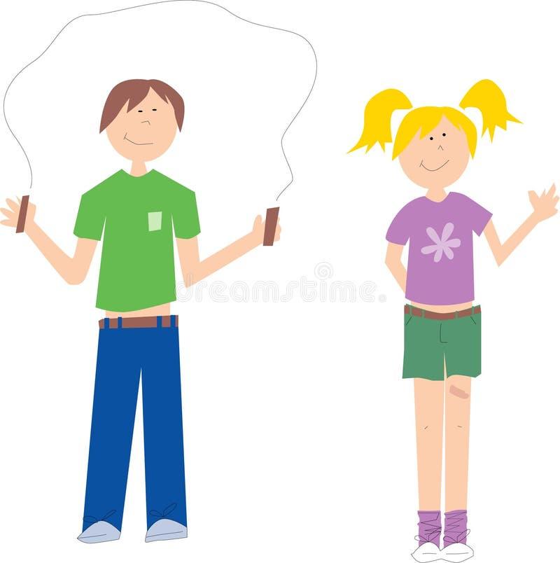 Camp Kids vector illustration