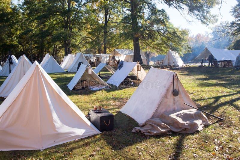 Camp militaire américain de guerre civile photos libres de droits