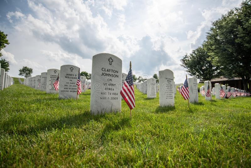 Camp Nelson Cemetery au Kentucky photographie stock libre de droits