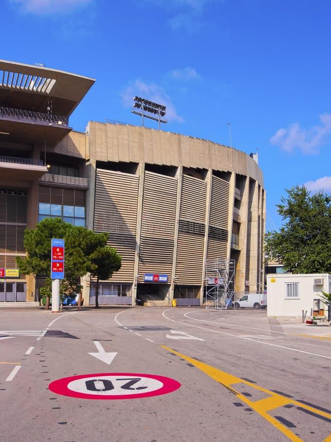 Camp Nou in Barcelona royalty-vrije stock fotografie