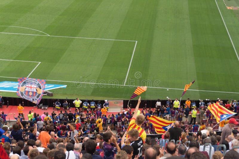 Camp Nou -stadion, Barcelona, Spanje - 2 September 2018 royalty-vrije stock foto