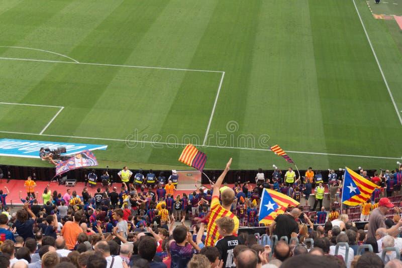 Camp Nou -stadion, Barcelona, Spanje - 2 September 2018 stock foto's