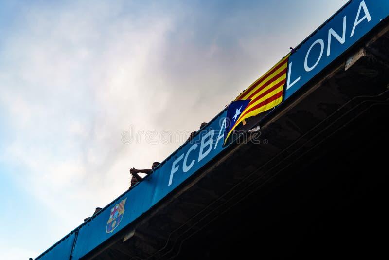 Camp Nou -stadion, Barcelona, Spanje - 2 September 2018 royalty-vrije stock fotografie