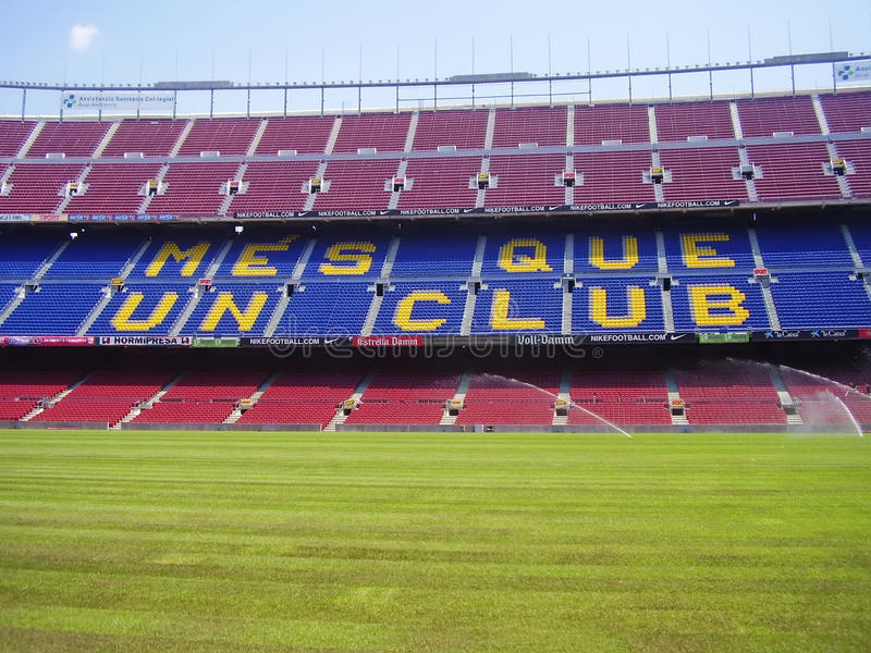 Camp Nou stadium in Barcelona royalty free stock images