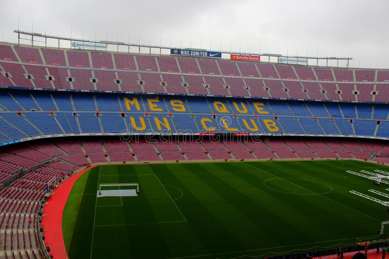 Camp Nou Stadium Football Club Barcelona. Camp Nou Stadium Football Club in Barcelona Here plays Lionel Messi royalty free stock images