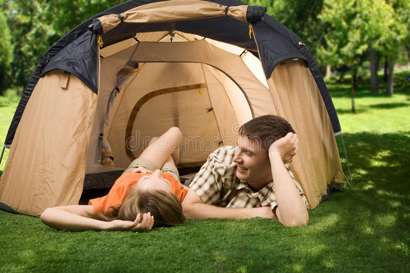 Camp rest royalty free stock image