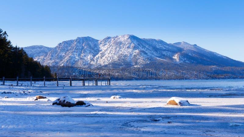 Camp Richardson en hiver images stock