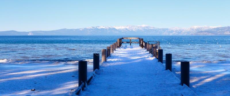Camp Richardson en hiver images libres de droits
