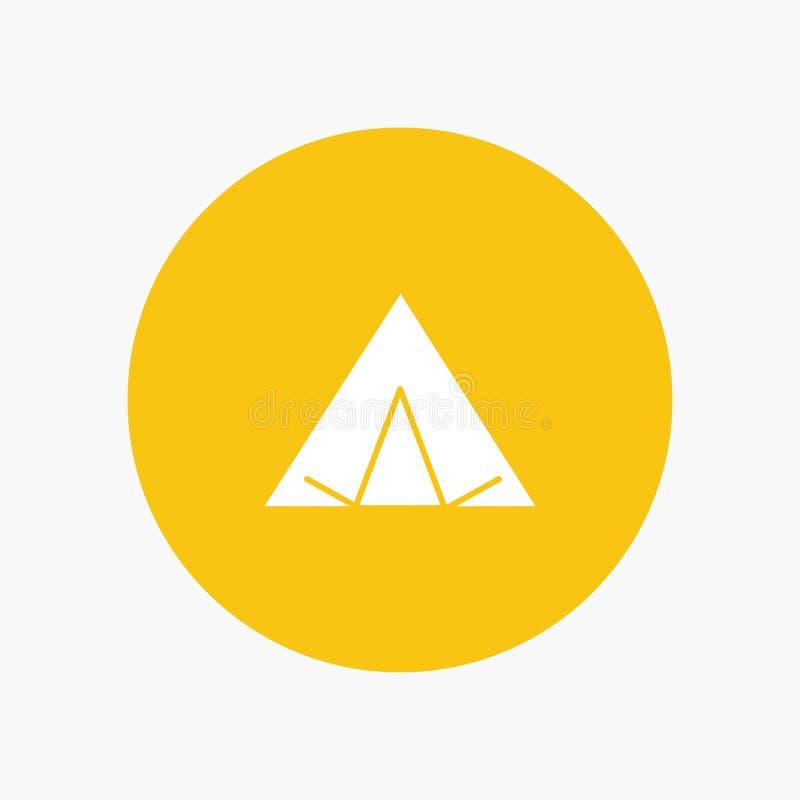 Camp, tente, tipi, ressort illustration stock
