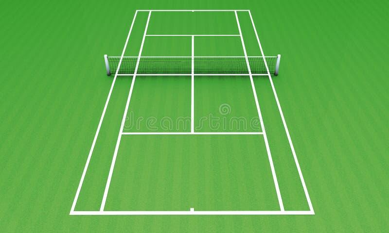 Camp vert de tennis illustration libre de droits