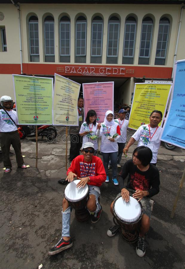 Campaña contra tuberculosis imágenes de archivo libres de regalías